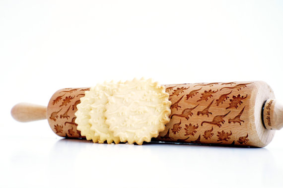 Dinosaur rolling pin - Bake with some cool Rolling Pin Patterns