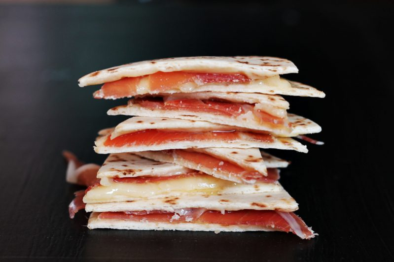 Cheese and Ham Tortillas - You'll want to eat these