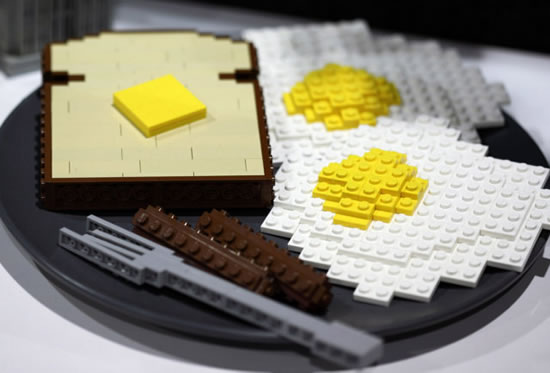 Making food out of Lego