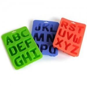 ice cube tray alphabet