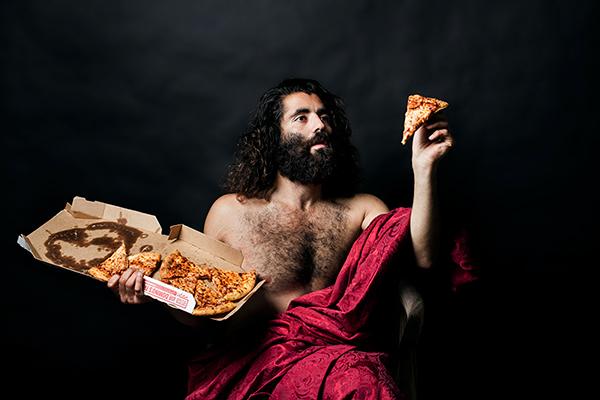 Pizza food art, contemporary pieces