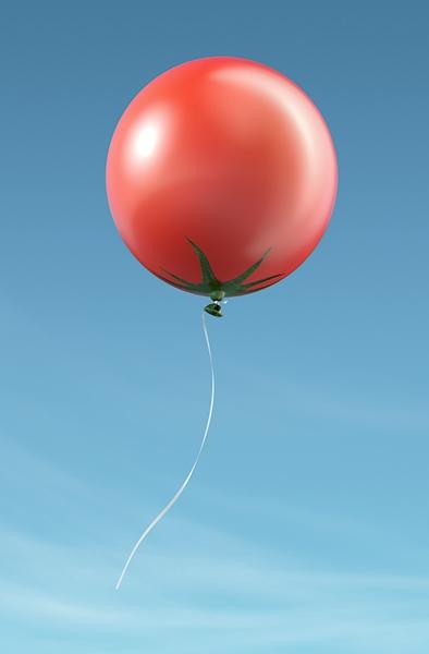 Tomato balloon, Inflatable Vegetables and Fruit Balloons for Hiltl Restaurant