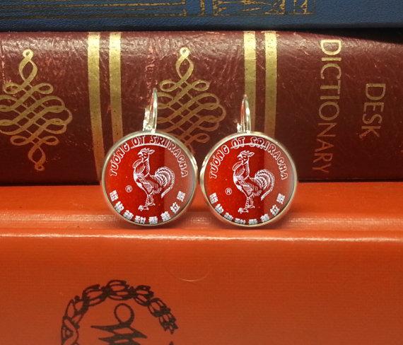 Sriracha earrings - Sriracha products that you don't need