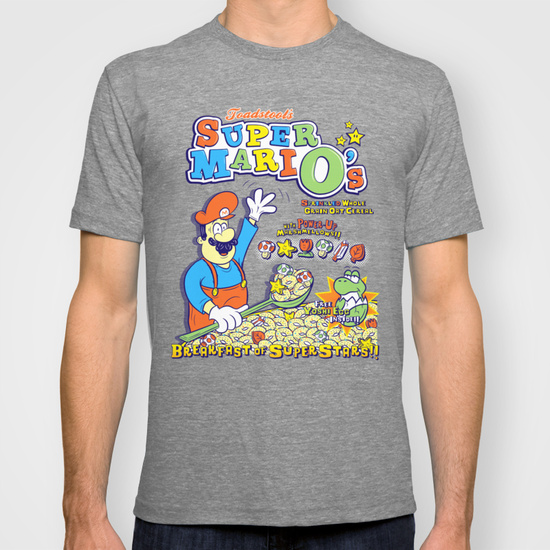 Super Mario Cereal T-shirt, Check out this great collection of Cereal T-Shirts at Ateriet.com