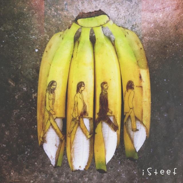 banana beatles art