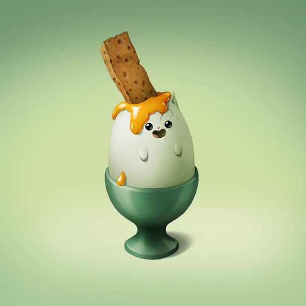 Animals and food - Cool illustrations by Marija Tiurina