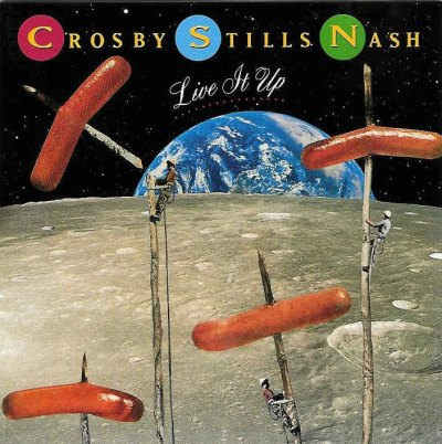Food Album Covers - Crosby Stills Nash Live it up