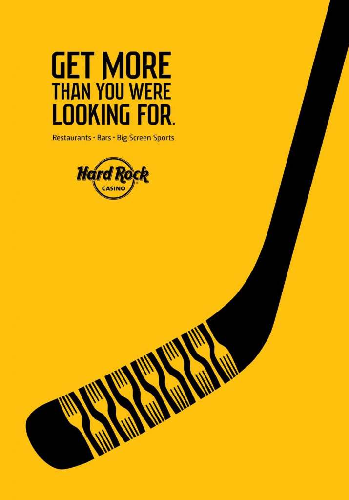 hard rock casino hockey stick ad