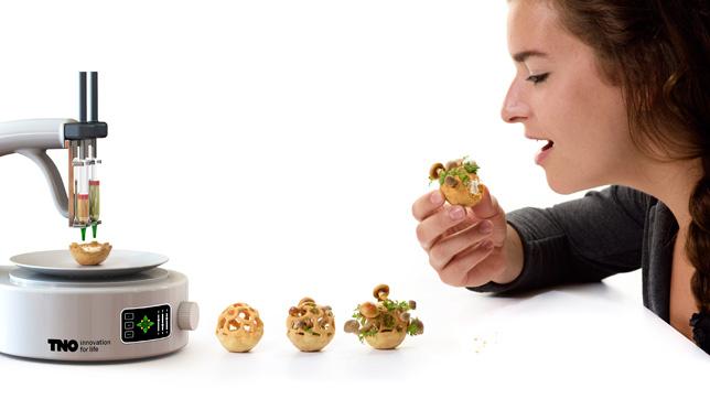 printed food using 3d