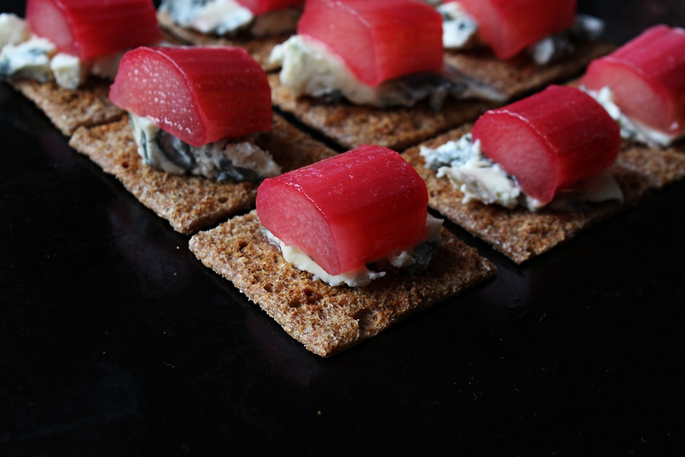 rhubard blue cheese