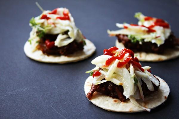 taco with sriracha