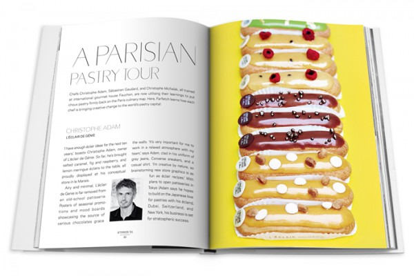 A Parisian pastry tour section in Farfetch Curates food book