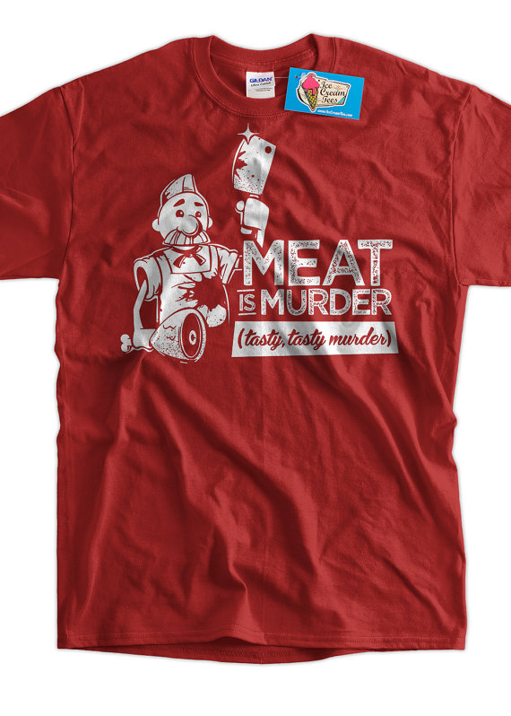 meat is murder t shirt, Meat T-Shirts