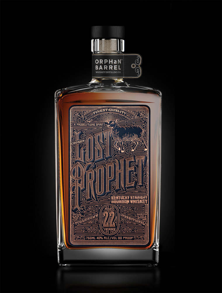 Lost Prophet whiskey packaging design