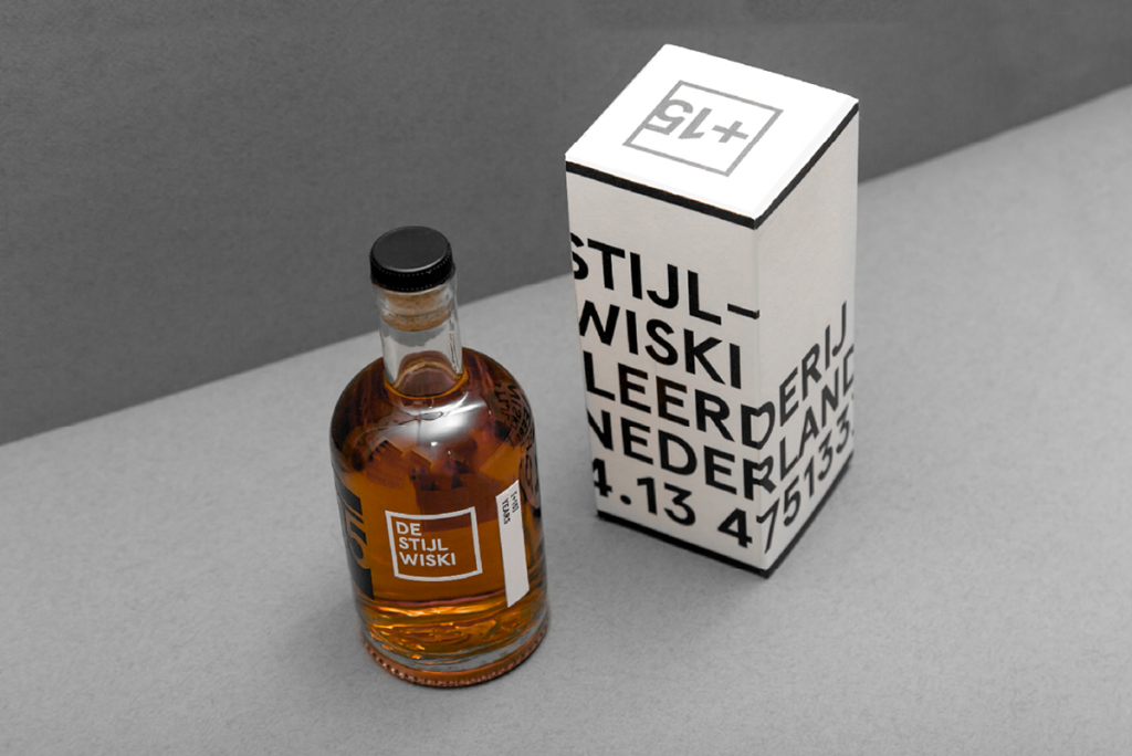 De Stijl Whiskey Bottle