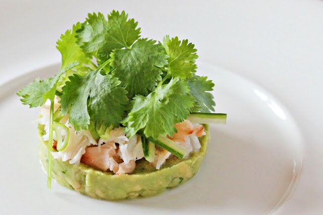 Crab with Cilantro and Crushed Fresh Avocado
