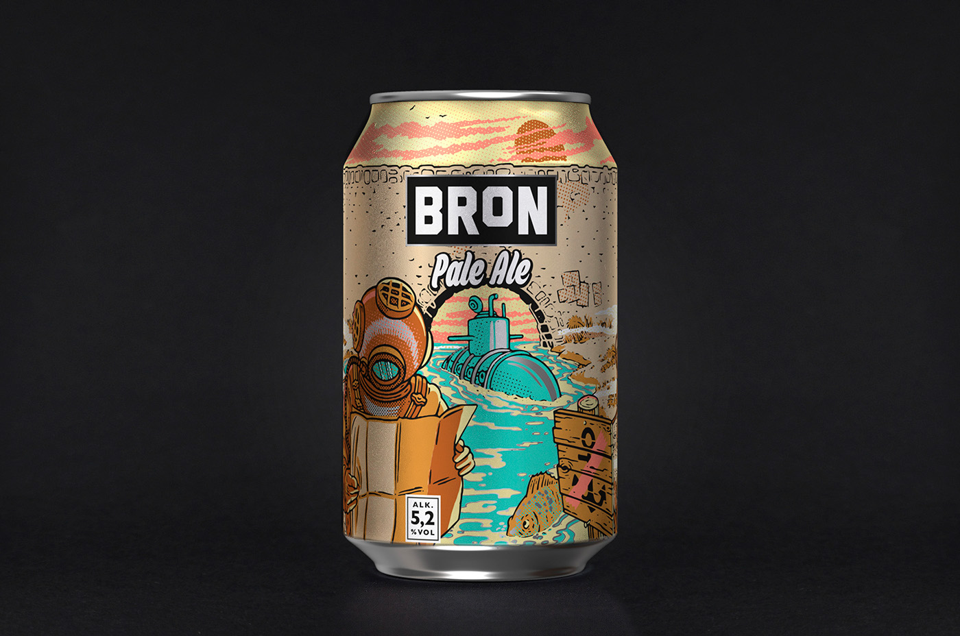 cool beer can bron pale ale