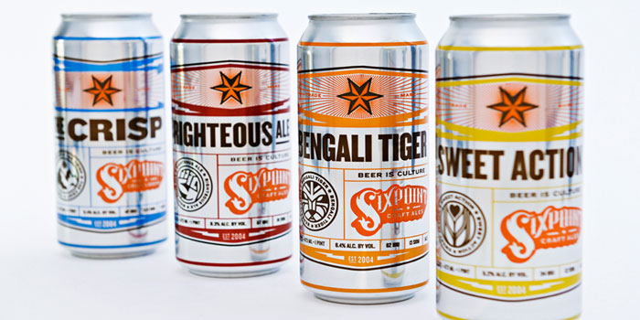 beer can packaging design sixpoint brewery