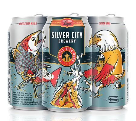 beer can packaging for silver city brewery