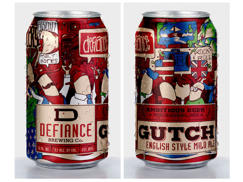 defiance brewing beer can packaging