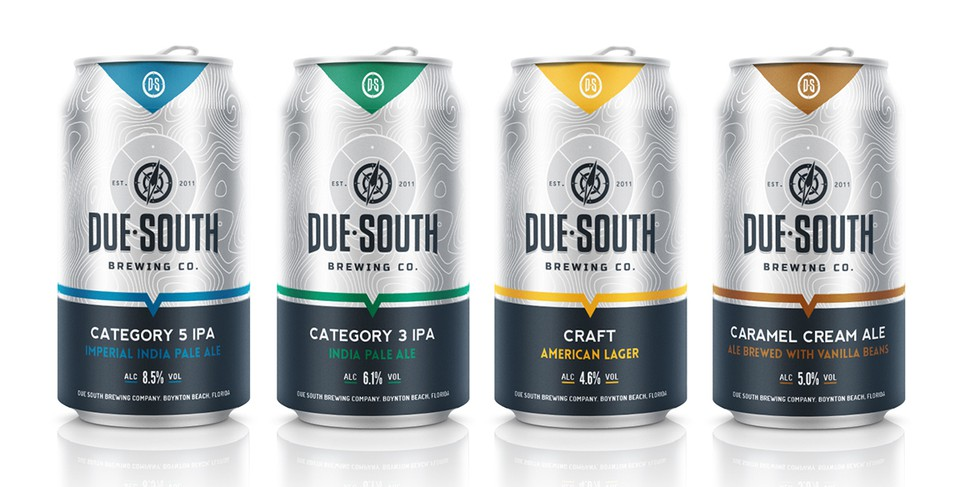 beer can packaging due south brewing company