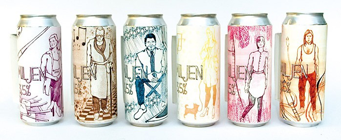 beer can packaging familjen cool beer