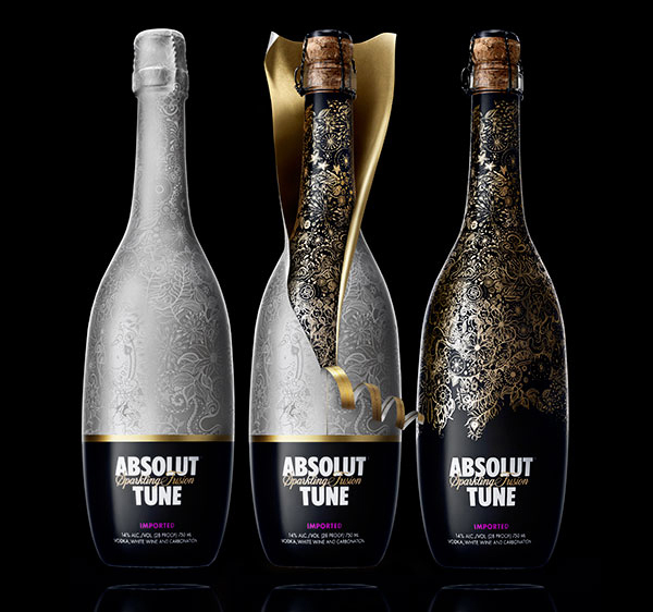 Absolut Tune bottle designs