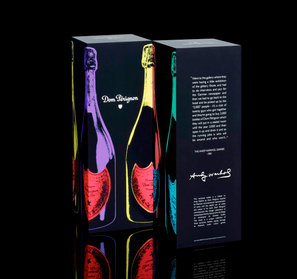 Andy Warhol Champagne bottle designs