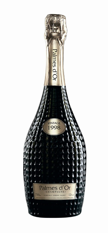 Palmes d´Or Champagne bottle design