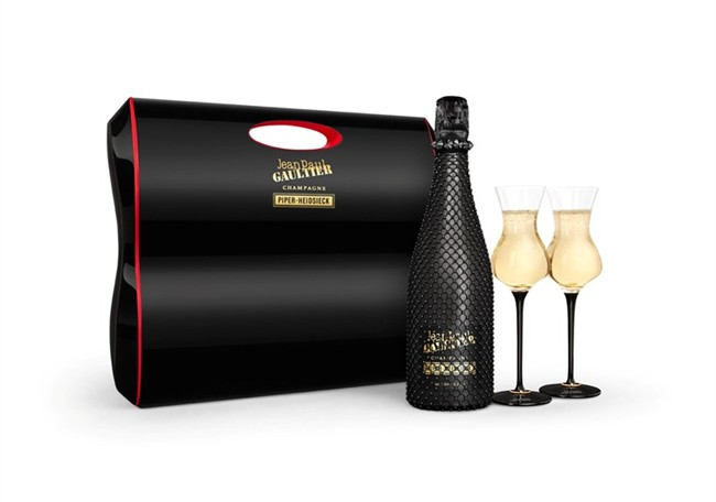 Jean Paul Gaultier champagne bottle