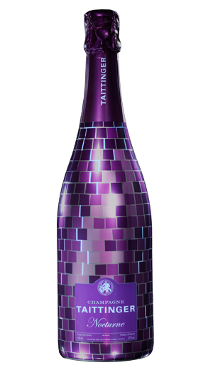 Disco champagne bottle in purple for Taittinger