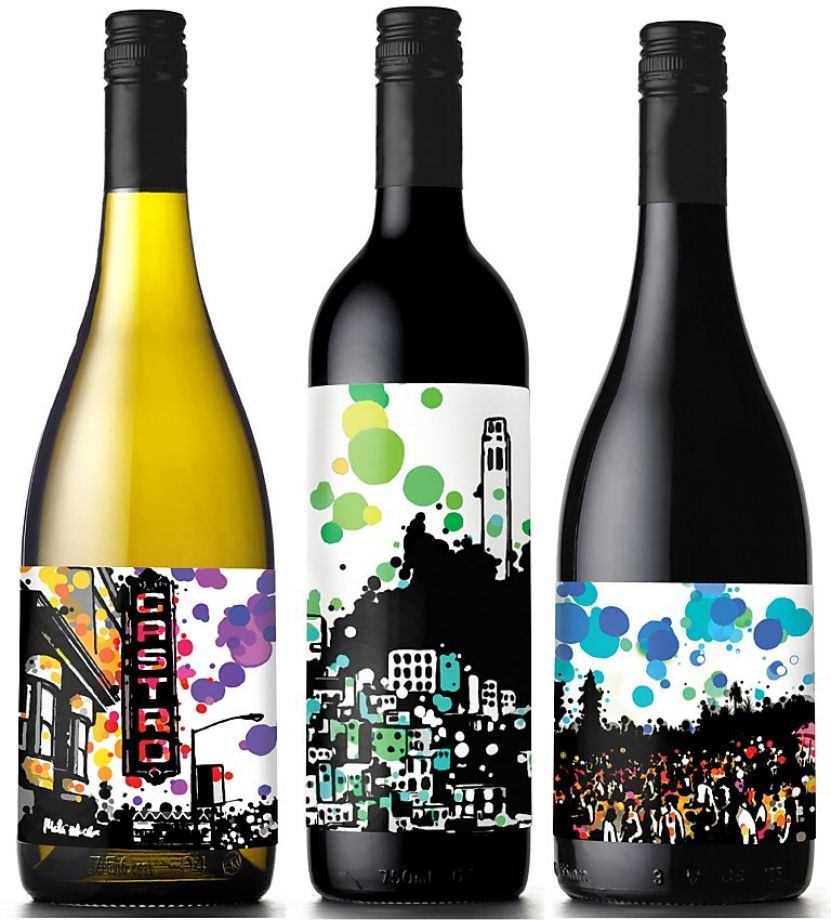 Great Examples Of Colorful Wine Labels That Stand Out