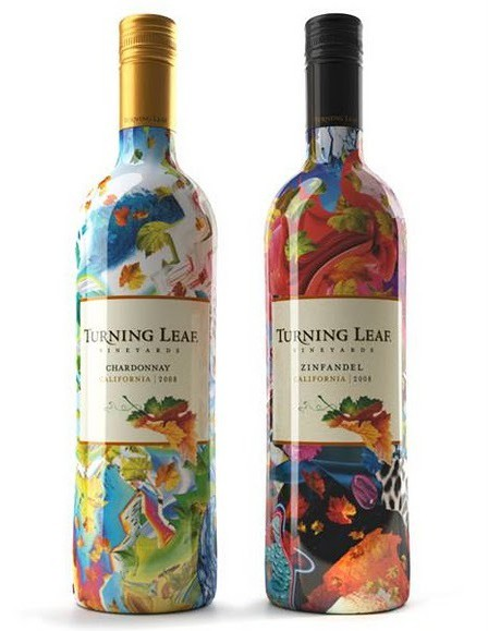 Colorful wine label Turning Leaf - 10 Great Examples of Colorful Wine Labels That Stand Out