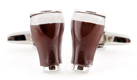 Beer Cufflinks, food cufflink collection