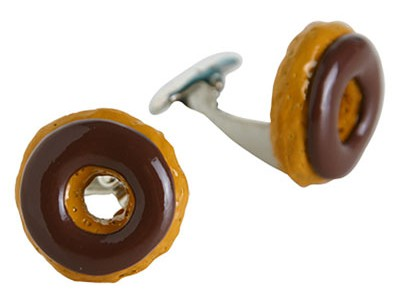 Donut Cufflinks, Food cufflink