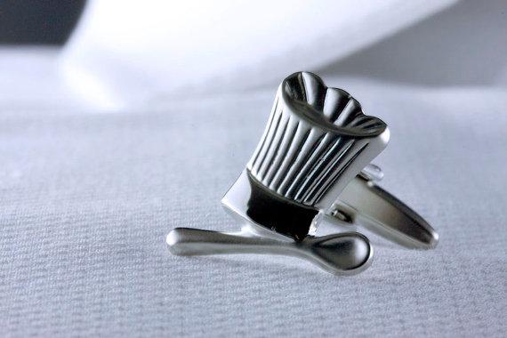 Chef cufflink, food cufflink