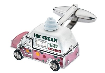Ice cream truck cufflink, food cufflink collection