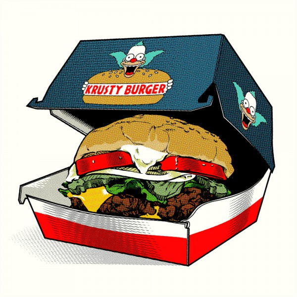 fictional food art krusty burger