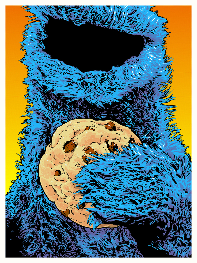 fictional food art cookie monster
