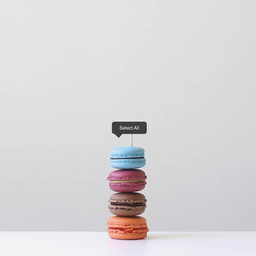 Macarons on top of each other, Fun food art photography