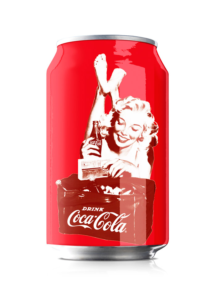 Coca-Cola Pin-up packaging can