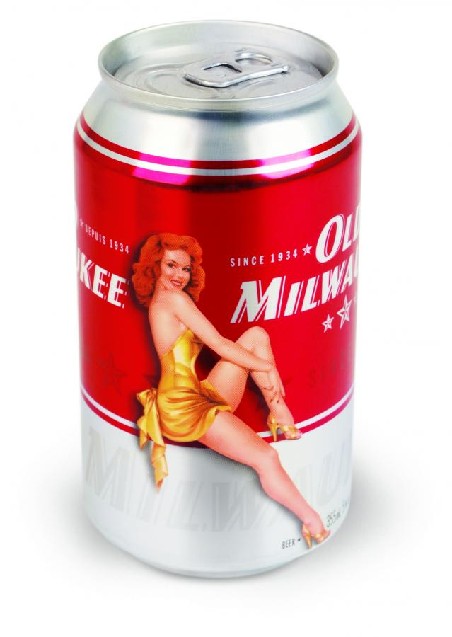 Old Milwaukee Pin-Up Beer Can