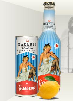 Macario pin-up packaging bottles