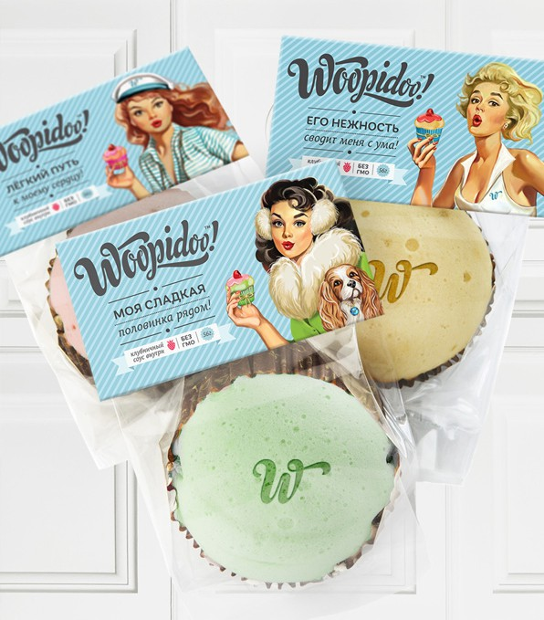 Pin-up packaging for mobile café Woopidoo!