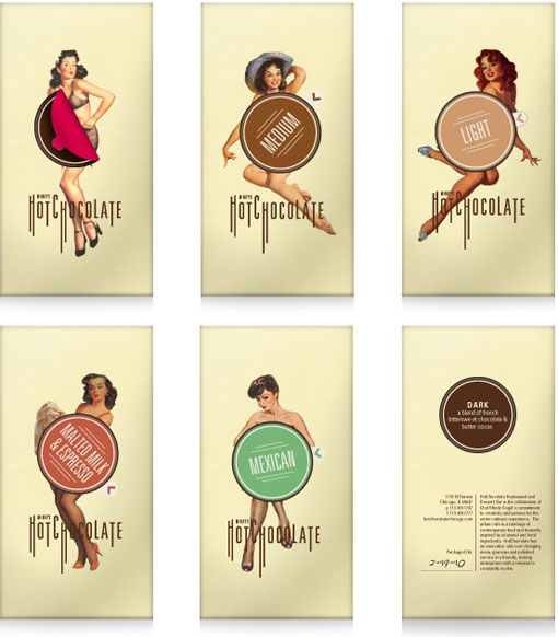 Chocolate pin-up packaging