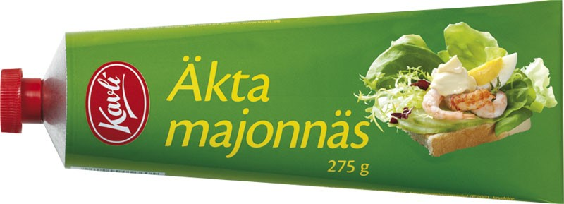 Mayonnaise in a tube