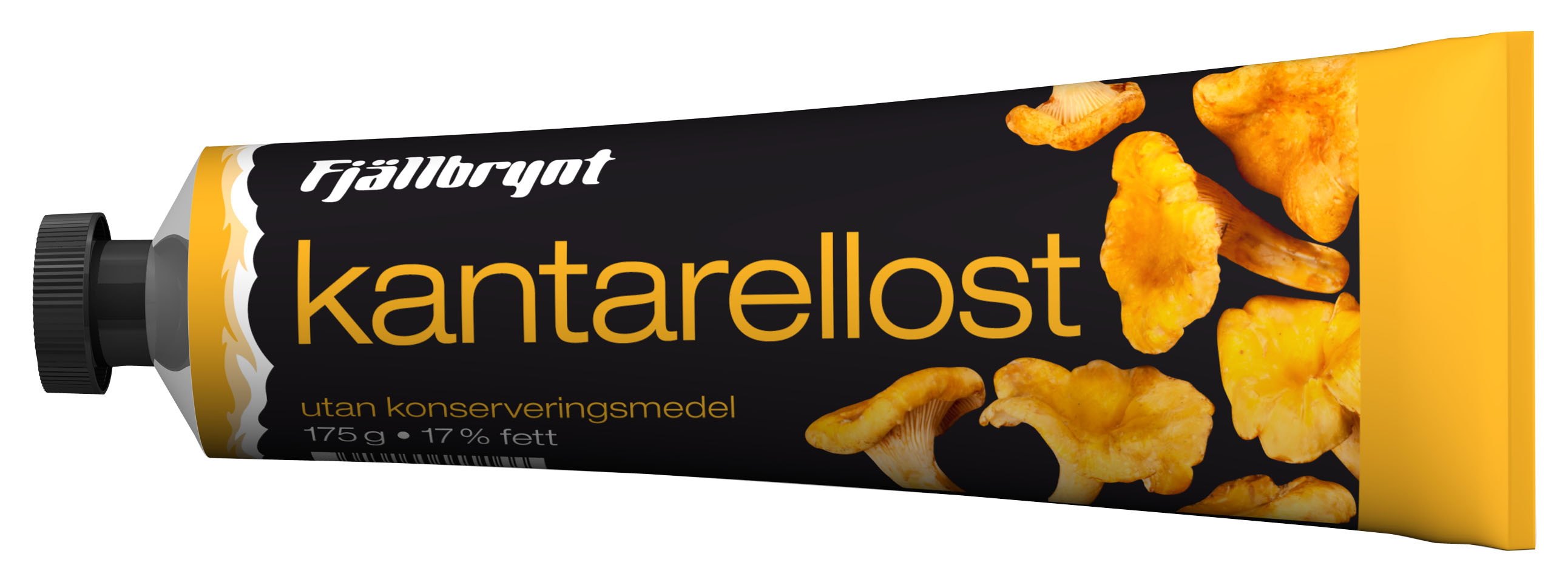 Chanterelle cheese in a tube, food in tubes collection at ateriet