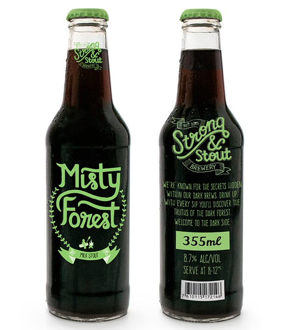 Misty Forest Beer Bottle Designs