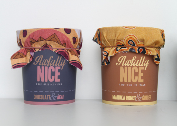 Awfully nice ice cream packaging