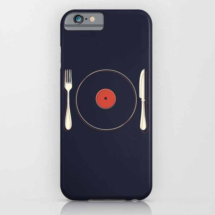 Vinyl record knife and fork, 20 Phone Cases for Foodies list